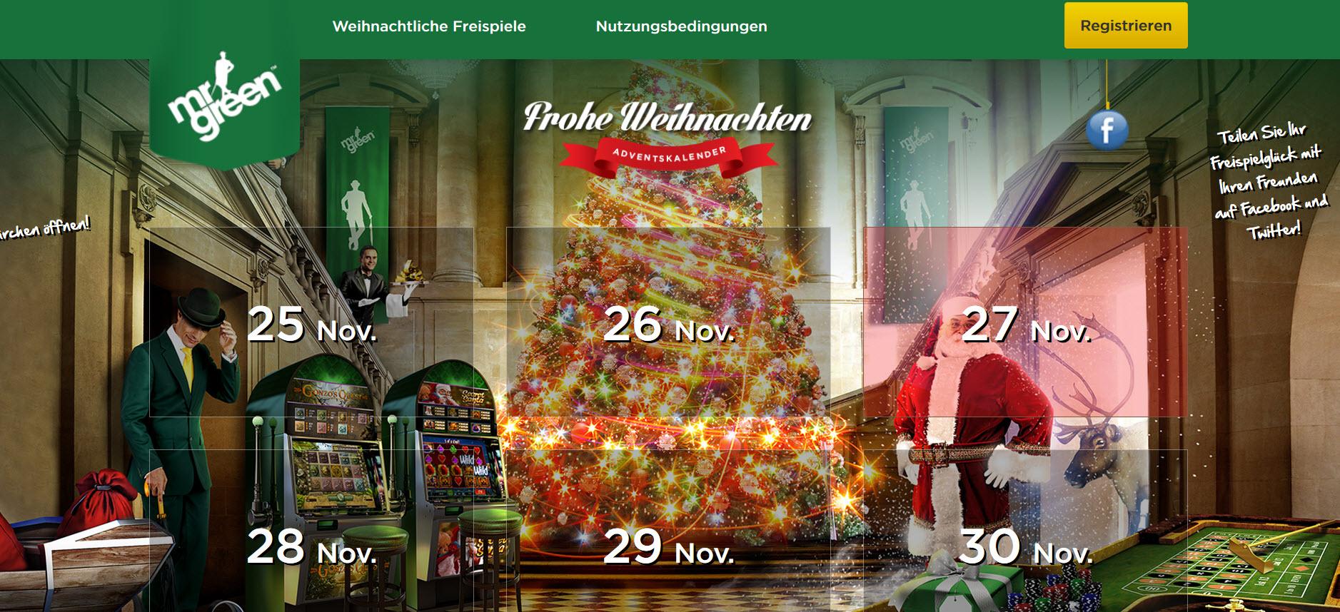 Adventskalender beim Online Casino Deutschland