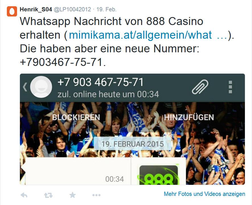 888 casino spam